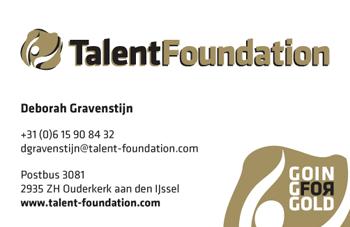 TalentFoundation visitiekaartje
